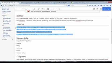 Thumbnail for entry Editing Wikipedia using Visual Editor: Part 1.3 Adding bullet points
