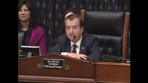 Thumbnail for entry Monica McWilliams: Chairman Royce Questions Witnesses at Hearing on Role of Women in Conflict Resolution