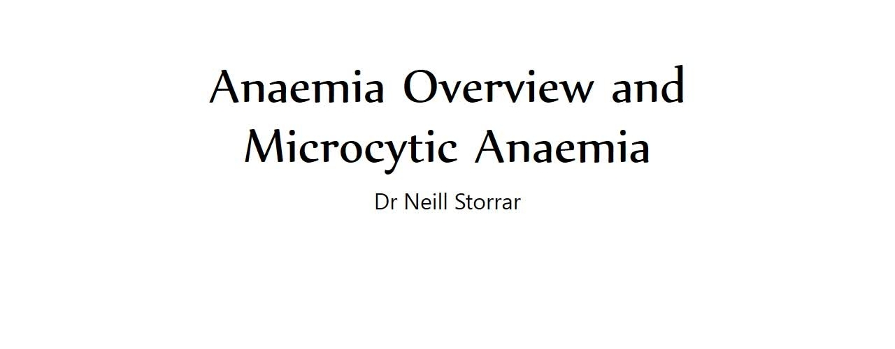 Microcytic anaemia