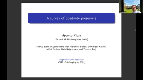 Thumbnail for entry Apoorva Khare  A survey of positivity preservers