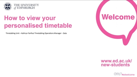 Thumbnail for entry (UG/PG) How-to view your timetable