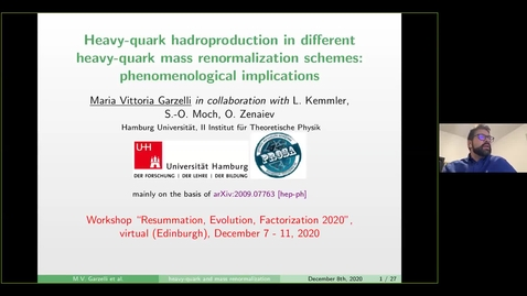 Thumbnail for entry REF2020: Maria Vittoria Garzelli- Heavy-quark hadroproduction in different heavy-quark mass renormalization schemes: phenomenological
