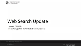 Thumbnail for entry Web Search Update - 15 March 2018