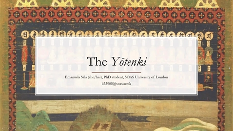 Thumbnail for entry Emanuela Sala - The Yōtenki