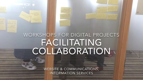 Thumbnail for entry Why we workshop - Website and Communications, Information Services