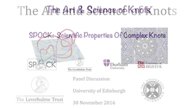 Thumbnail for entry The Art and Science of Knots: 5. Paul Sutcliffe