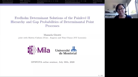 Thumbnail for entry Fredholm Determinant Solutions of the Painlevé II Hierarchy and Gap Probabilities of Determinantal Point Processes - Manuela Girotti