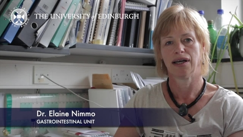 Thumbnail for entry Elaine Nimmo -Gastrointestinal Unit-Research In A Nutshell- MRC Institute of Genetic and Molecular Medicine-16/10/2012