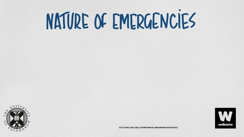Thumbnail for entry Nature Of Emergencies