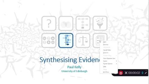Thumbnail for entry Synthesising the Evidence: Video 3 - Paul Kelly