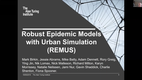 Thumbnail for entry Birkin Greig Robust Epidemic Models with Urban Simulation (REMUS)