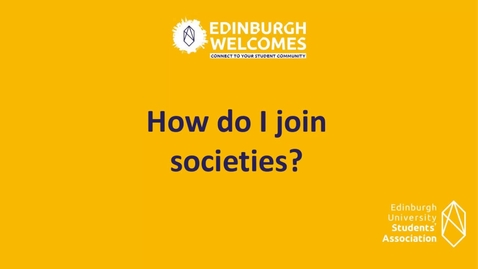 Thumbnail for entry How- To join student societies