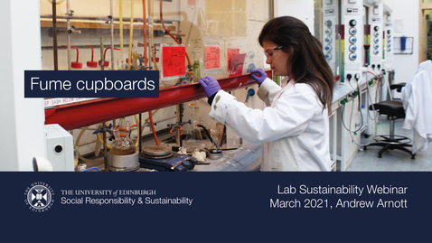 Thumbnail for entry Fume cupboards (Lab Sustainability Webinar, March 2021)