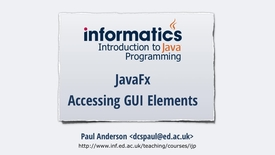 Thumbnail for entry JavaFX 4 - Accessing GUI Elements