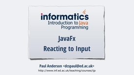 Thumbnail for entry JavaFX 3 - Reacting to Input