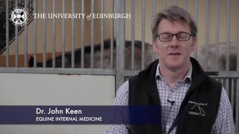 Thumbnail for entry John Keen - Equine Internal Medicine - Research In A Nutshell - Royal (Dick) School of Veterinary Studies -16/10/2012