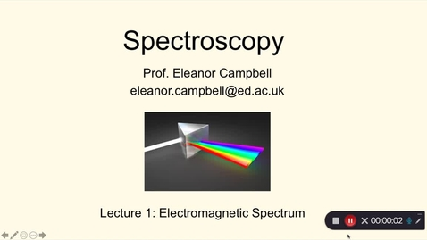 Thumbnail for entry Chem1 Spectroscopy Lecture 1