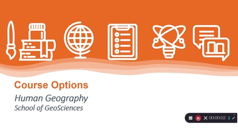 Thumbnail for entry GeoSciences - Human Geography Course Options in 2021