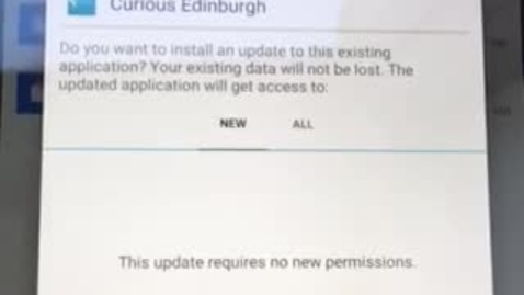 Thumbnail for entry How to download the alpha version of the Curious Edinburgh Android app