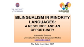 Thumbnail for entry Bilingualism in Minority Languages - Professor Antonella Sorace (full talk)