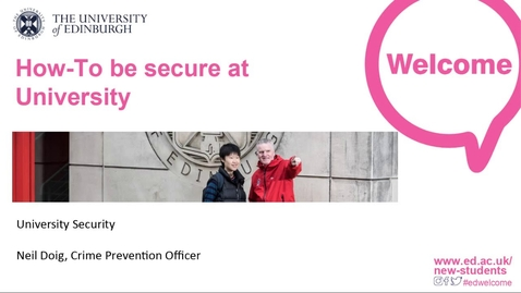 Thumbnail for entry How-To be secure at University