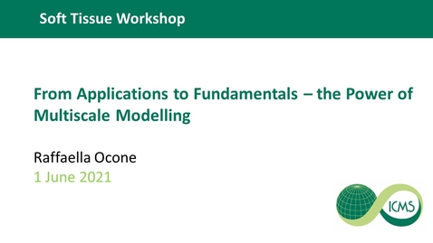 Thumbnail for entry From Applications to Fundamentals –the Power of Multiscale Modelling - Raffaella Ocone