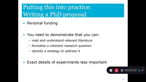 Thumbnail for entry Proposing and publishing research Part 4