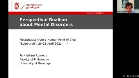 Thumbnail for entry Perspectival Realism - Day 3 - Session 1 - Jan-Willem Romeijn - Perspectival Realism about Mental Disorders