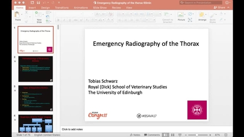 Thumbnail for entry Emergency Radiography of the Canine and Feline Thorax