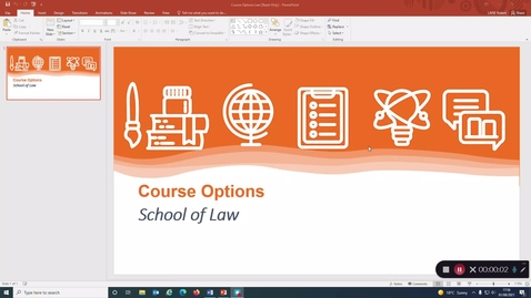 Thumbnail for entry Law School - Year 1 course options 2021-22 with captions