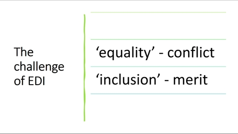 Thumbnail for entry EDI training for Staff - Part 2, Equality & Inclusion