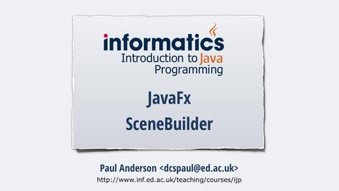 Thumbnail for entry JavaFX 1 - Scene Builder