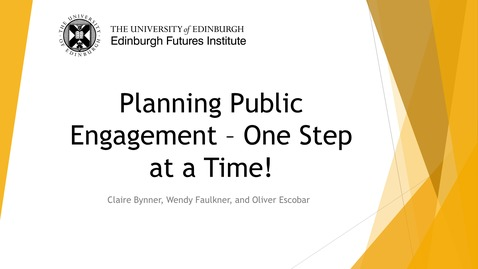 Thumbnail for entry Planning Public Engagement - One Step at a Time!