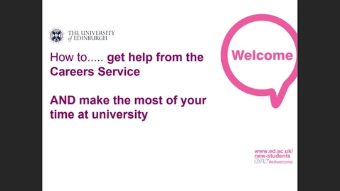 Thumbnail for entry (UG) How to get help and support from the Careers Service
