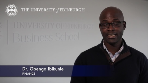 Thumbnail for entry Gbenga Ibikunle -Finance -Research In A Nutshell-Business School-28/01/2013
