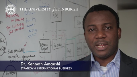 Thumbnail for entry Kenneth Amaeshi-Strategy & International Business-Research In A Nutshell-Business School-31/10/2012