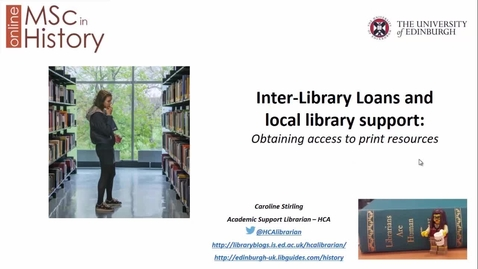 Thumbnail for entry MSc History (online) inter-library loans 2019