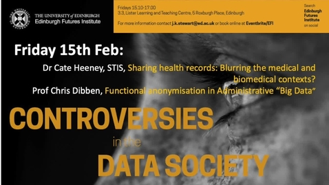 Thumbnail for entry Cate Heeney - Sharing health records - Data Controversies 2019