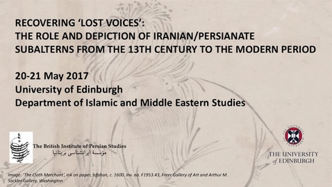 Thumbnail for entry Dr Valerie Gonzalez - 'The Subaltern versus the King: The Dual Semantic of Portraiture in Early Modern Persian-Mughal Painting'