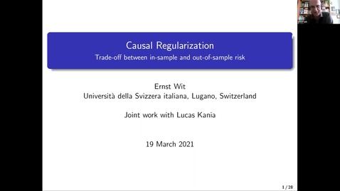 Thumbnail for entry Ernst C. Wit (Università della Svizzera italiana): Causal regularization