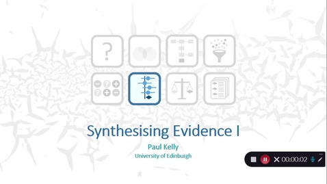 Thumbnail for entry Synthesising the Evidence : Video 2 - Paul Kelly