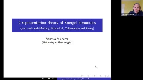 Thumbnail for entry 30 September Vanessa Miemietz Simple transitive 2-representations of Soergel bimodules for finite Coxeter type in characteristic zero