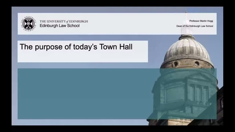 Thumbnail for entry Returning Law student town hall Q&A session - 7 Sep 2020, 2pm