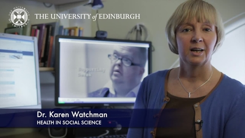Thumbnail for entry Karen Watchman -Health In Social Science - Research In A Nutshell- School of Health in Social Science-15/11/2012