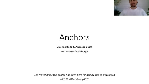 Thumbnail for entry XAI Lecture Recording - Anchors (Part 1)