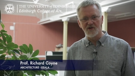Thumbnail for entry Richard Coyne -Architecture (ESALA)  - Research In A Nutshell-Edinburgh College of Art-15/11/2012