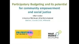 Thumbnail for entry Webinar: Participatory budgeting and its potential for community empowerment and social justice