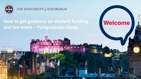 Thumbnail for entry (PG) How-to get guidance on student funding and fee levels