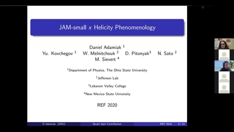 Thumbnail for entry REF2020: Daniel Adamiak- Small-x Helicity Phenomenology