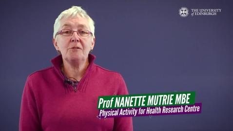 Thumbnail for entry Prof Nanette Mutrie
